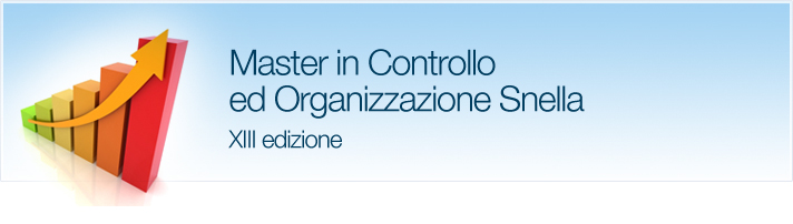 Il Master in Controllo ed Organizzazione Snella