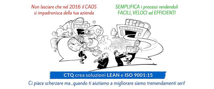 CTQ, crea soluzione Lean e ISO 9001:2015