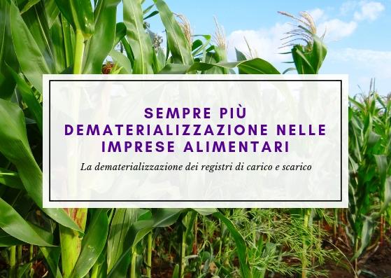 Dematerializzazione dei registri settore agroalimentare