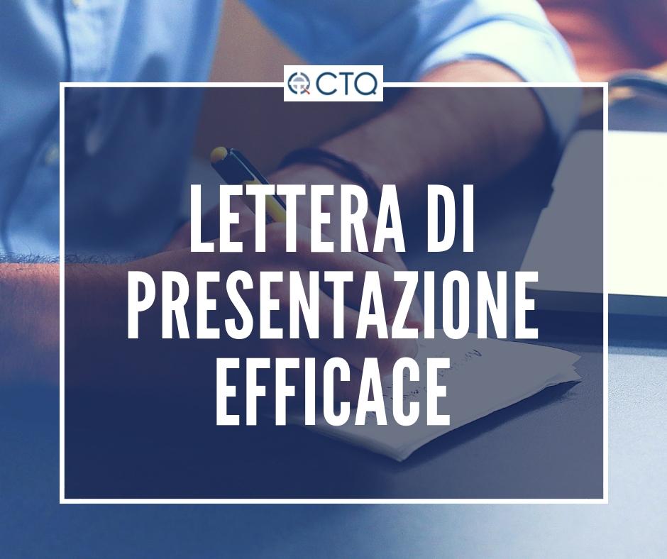 come scrivere lettera di presentazione da allegare al curriculum